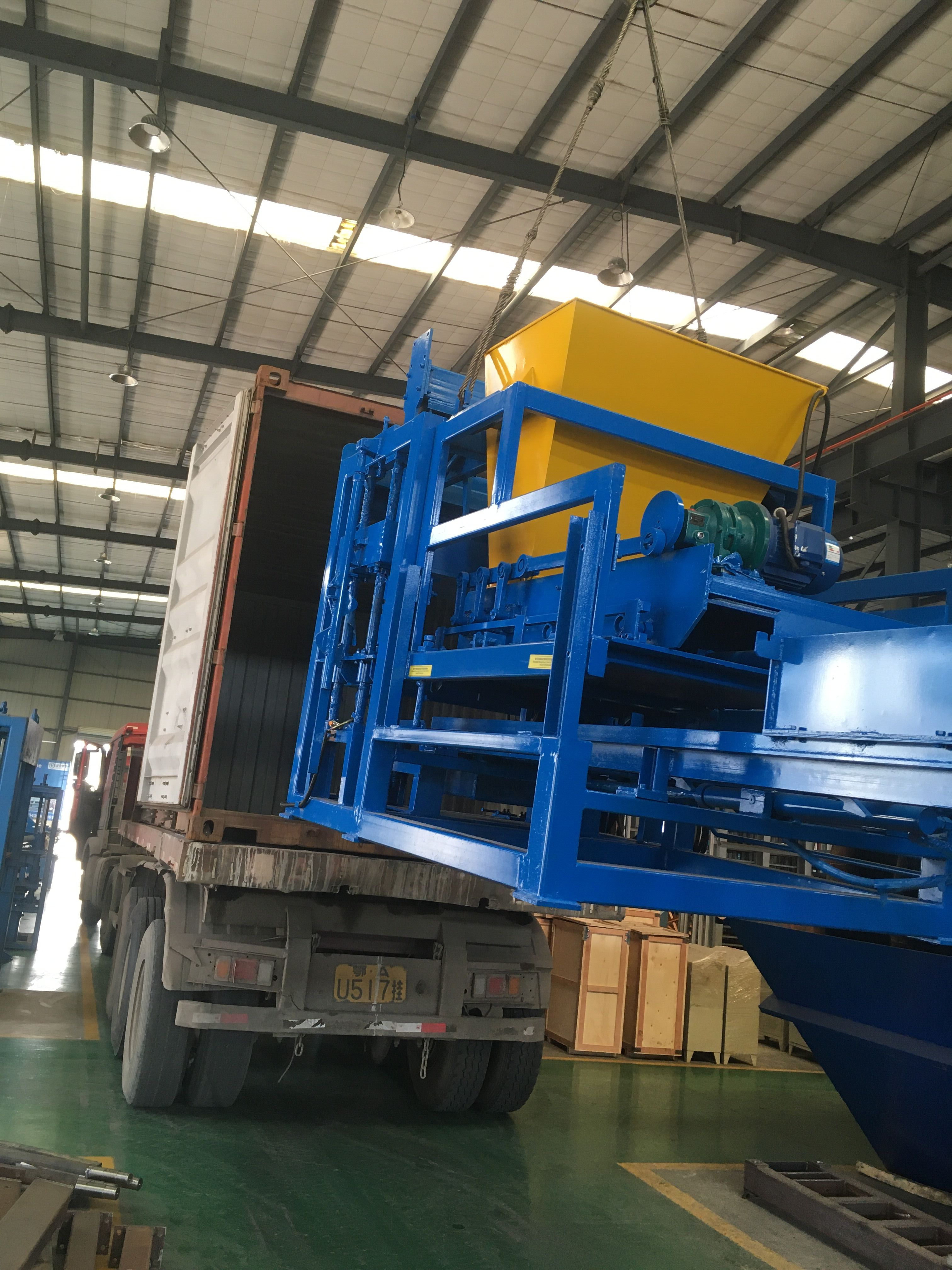 ZCJK block making machine is delivering to Malawi customer