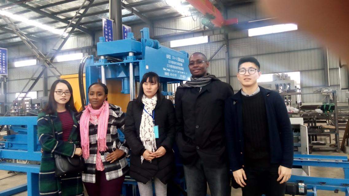 Welcome our client to visit wuhan zcjk factory